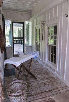 Back Porch Ironing