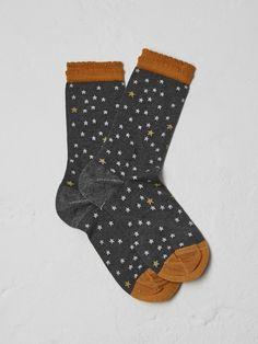 Sparkle star smart sock   socks   White Stuff