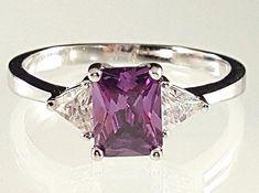 925 Sterling Silver Ring Naturel Violet Améthyste Halo Taille 5 6 7 8 9 10 11