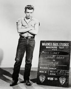 vintage everyday: Vintage Wardrobe Test Shots for Famous Movies James Dean in Giant, 1955.