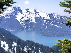 The view of Garibaldi Lake from part way up the Black Tusk, Whistler area