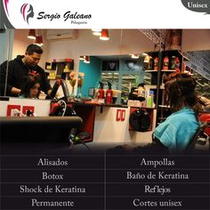 Algunos de los servicios que ofrecemos y mas en SERGIO GALEANO Peluquería Unisex #Moreno #Look #Estilo #Color