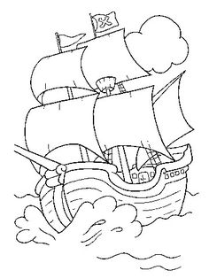 Free Kid Coloring Pages: Pirates Pirate Coloring Pages, Coloring Book Pages, Coloring Pages For Kids, Kids Coloring, Pirate Day, Pirate Theme, Pirate Activities, Digital Stamps, Printable Coloring