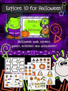 Make 10 with colorful Halloween Games and Activities!