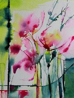 Petit instant 133 (Peinture),  20x15 cm par Véronique Piaser-Moyen Aquarelle originale sur papier 300 G