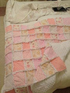 Rag quilt for my future daughter, Olivia! A great website I used to guide me: http://quilting.about.com/od/ragquiltpatterns/ss/rag_quilt_basic.htm