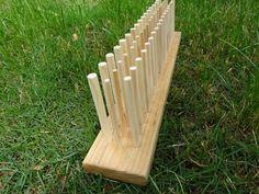 24 Inch Peg Loom, Three Rows, Handmade in USA, Solid Hardwood, Beginner Weaving Loom, Viking Weaving, Old World Weaving Loom by PhoenixFarmFiber on Etsy