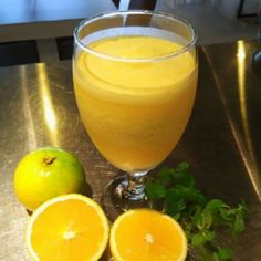 Mix drink from fresh orange and mango :)