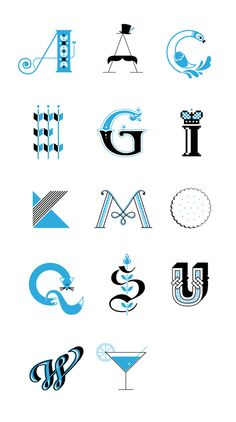 """A"" like ""Alphabetical order"" by Olja Ilyushchanka, via Behance"
