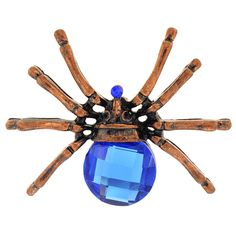 Vintage Style Sapphire Spider Pin Brooch