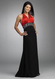 ab3a63ee4272 společenské šaty šité na míru červenočerné Angelbride - plesové šaty