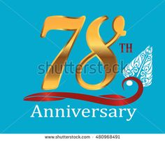 78th golden anniversary logo with white indonesia shadow puppet ornament