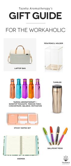 Tazeka's gift guide for the workaholic http://www.tazekaaromatherapy.com/