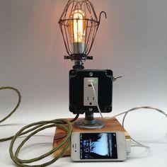 Industrial Charging Lamp Light USB Port by ModernArtifactDecor