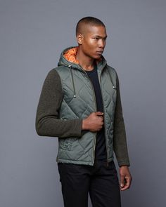 Mason Wool Quilted Jacket // Army (S)