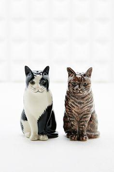 Salz- und Pfefferstreuer in Katzenform