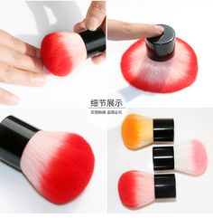 1pcs high quality New Colorful Nail tools Brush For Acrylic & UV Gel Nail Art Dust Cleaner nail dust brushes