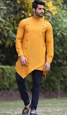 24 Best Men's Kurta with Jeans Style : 2019 Gents Kurta Design, Boys Kurta Design, Kurta Pajama Men, Kurta Men, Designer Suits For Men, Designer Clothes For Men, Designer Mens Shirts, Men Clothes, Nigerian Men Fashion