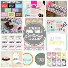 Quick easy classroom birthday treats free printable happy birthday tags for those last minute gift giving needs negle Choice Image