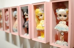 Blythe DOlls... by Mab Graves... at Candyland art exhibit...