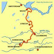 Waterliniepad: Werkendam - Gorinchem - Culemborg - Weesp http://wandelnet.nl/waterliniepad-sp-18