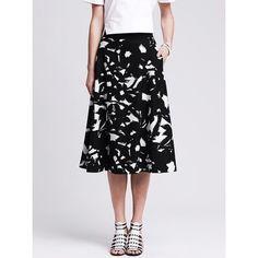 banana republic • floral midi skirt wore a few times. side pockets Banana Republic Skirts Midi