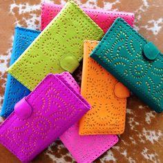 Colorful Mexicana Wallets at the Cleobella Boutique Neon Colors, Rainbow Colors, Vibrant Colors, Taste The Rainbow, Over The Rainbow, Coat Of Many Colors, All The Colors, World Of Color, Color Of Life