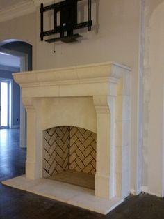 Limestone Rumford fireplace. Foothill Terrace | Ryan Street ...