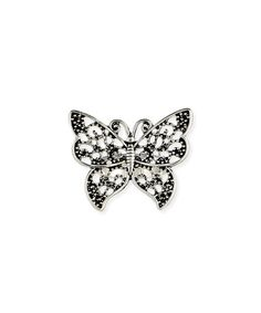This ZAD Silvertone Filigree Butterfly Ring by ZAD is perfect! #zulilyfinds