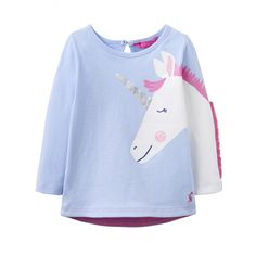 With a full sleeve print and a fluffy fringe mane your little pony lover is going to be head over heels for this sweet tee. Ultra comfy cotton makes the perfect choice for everyday horsin' around! Joules Baby Girl, Toms, Badminton, Kind Mode, Sweatshirts, Sleeves, Cotton, Baby Girls, 3d