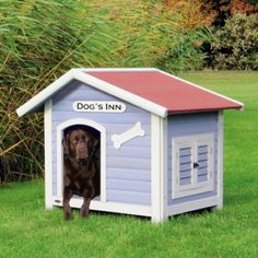 Landhausstil Maritim Hundehütte mit Satteldach - Hundehütte | Hundekrone.de Hundeshop