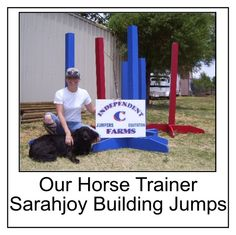 Horse ranch trainer Sarahjoy Crain and her 'best dog in the world,' Mister.