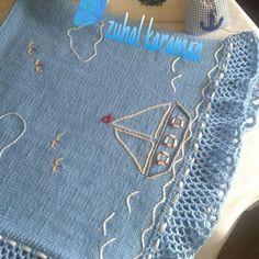 #gemici#mavi #beyaz #erkek #bebekler #için#battaniyedetaylı#