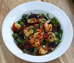 Chili Basil Shrimp (via marriahlavigne.com)