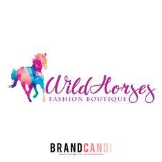Pre Made Logo Design - Horse Logo - Colorful Logo by BrandCandi