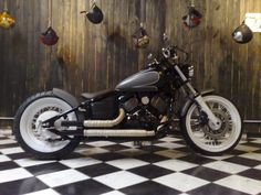 Yamaha V-star bobber Harley Davidson Chopper, Harley Davidson Motorcycles, Custom Motorcycles, Custom Bikes, Bobber Bikes, Bobber Motorcycle, Yamaha Bikes, Motorcycle Tips, Motorcycle Garage