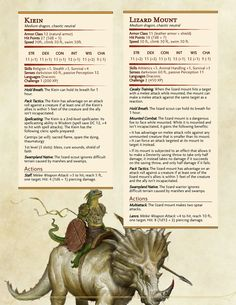 Homebrewing monsters Lagarto lvl 1 e 2 Dungeons And Dragons Rules, Dnd Dragons, Dungeons And Dragons Homebrew, Cool Monsters, Dnd Monsters, Monster Characters, Dnd Characters, Fantasy Creatures, Mythical Creatures