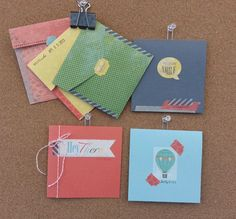 I found this on stampinup.com.. I love the idea of using the This and That journaling goodies for cards!