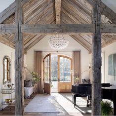 Grand Entryway, Rustic Entryway, Grand Entrance, Entryway Decor, Modern Farmhouse, Farmhouse Style, French Farmhouse, Rustic Modern, Farmhouse Kitchens