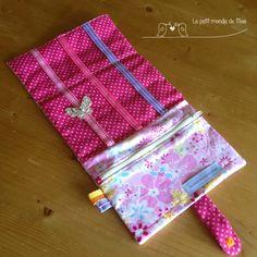 Tuto trousse barettes ou pour la pochette ipad tr s bel exemple ici couture pinterest - Tuto pochette bandouliere ...
