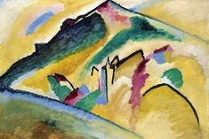 """Wassily Kandinsky - """"Herbstlandschaft (Autumn landscape)"""", 1911"""