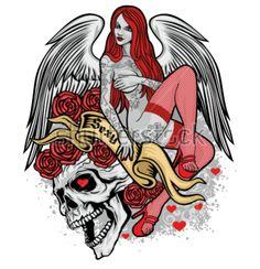 Pin Up Girl Tattoo, Pin Up Tattoos, Dream Tattoos, Girl Tattoos, Tatoos, Alien Drawings, Art Drawings, Pretty Art, Cute Art