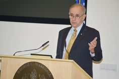 U.S. Army Lt. Gen. Keith Dayton, director of the George C. Marshall European Center for Security Studies, welcomes 72 participants from 54 countries attending the Program on Terrorism and Security Studies Feb. 25 at the Marshall Center here. The #PTSS1503 started Feb. 25 and will end with a graduation ceremony March 25 at the Marshall Center. (DOD photo by Karlheinz Wedhorn/RELEASED)