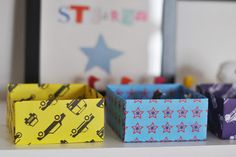 DIY paper box, perfect for work organization