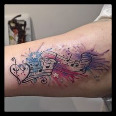 40 Marvelous Music Note Tattoo Ideas – For Those Who Is In Love With Music Check more at http://tattoo-journal.com/best-music-note-tattoo-designs-meaning/