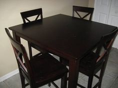High Kitchen Table Set