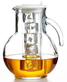Bormioli Rocco Kufra Glass Jug with Ice Container and Lid, 72 3/4 oz - http://teacoffeestore.com/bormioli-rocco-kufra-glass-jug-with-ice-container-and-lid-72-34-oz/