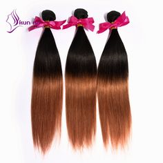 Find More Human Hair Extensions Information about KUNNA ombre brazilian human…