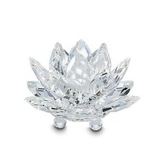 """Ross-Simons - Swarovski Crystal """"Waterlily"""" Small Crystal Candle Holder - #314617"""