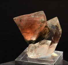 Fluorite on Quartz - Göscheneralp, Göschenen Valley, Uri, Switzerland Size: 6 cm